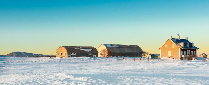 La campagne en hiver à Saint-Jean.