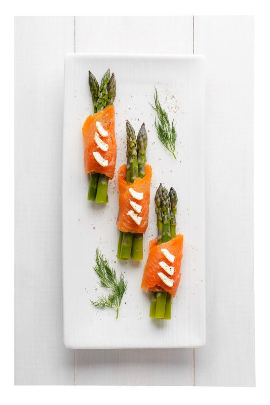 Roulé de saumon aux asperges!