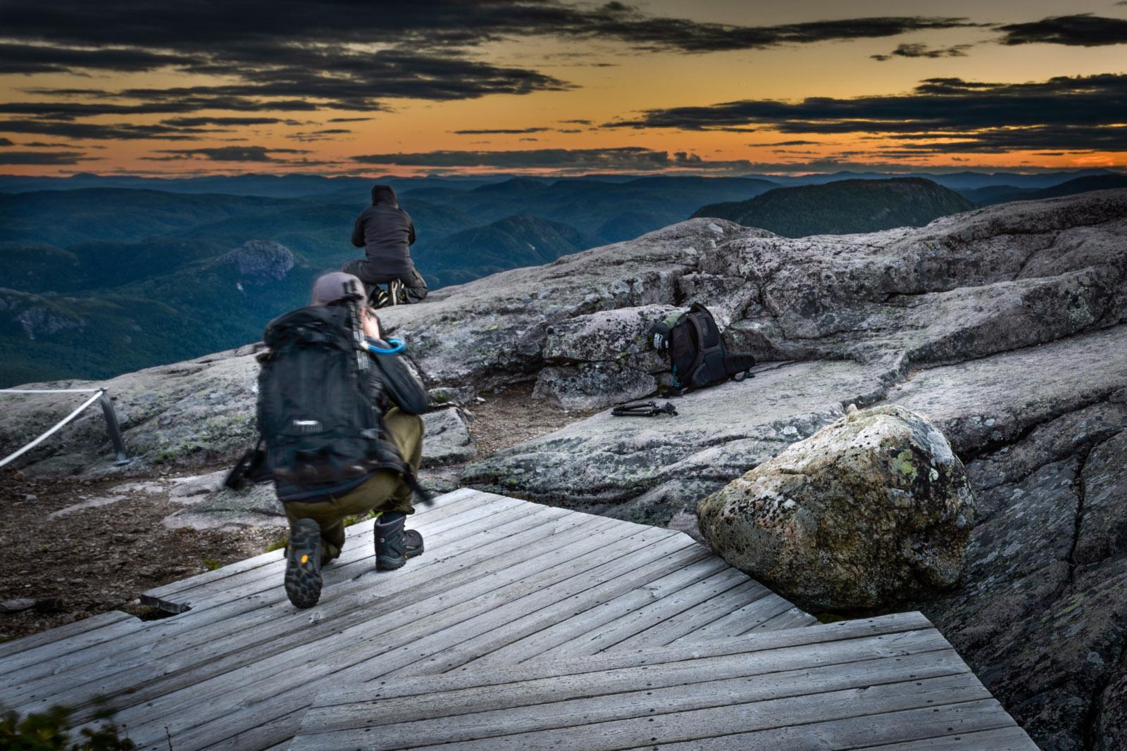 Mont du lac des Cygnes: Francis photographié en train de photographier Claudel!