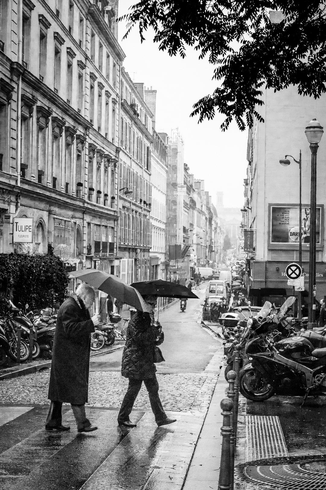 Paris sous la pluie...