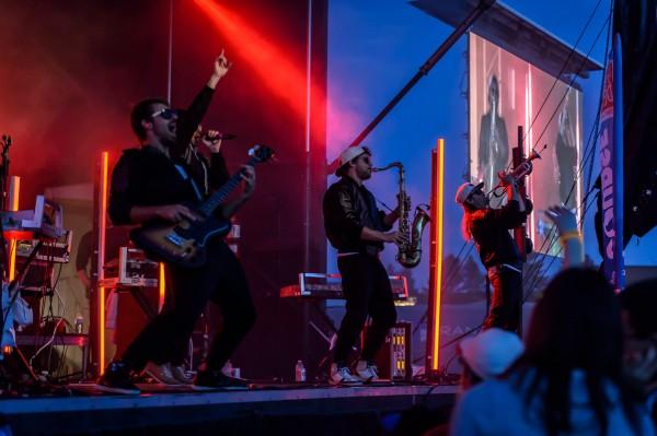 Prestation de Mister Valaire,un groupe de musique électro-jazz québécois