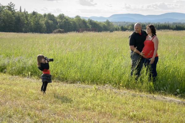 Séance de photos avec une future maman!