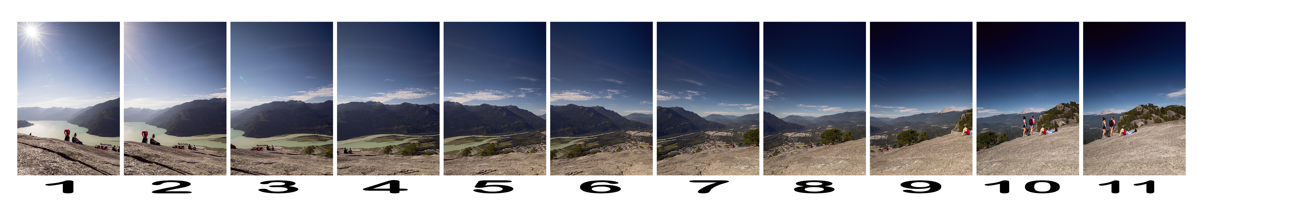 Onze photos raw pour assembler ce panorama / Source raw files