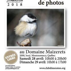 Exposition annuelle 2018 du Club Photo Dimension / Club Photo Dimension 2018 Annual Exhibition
