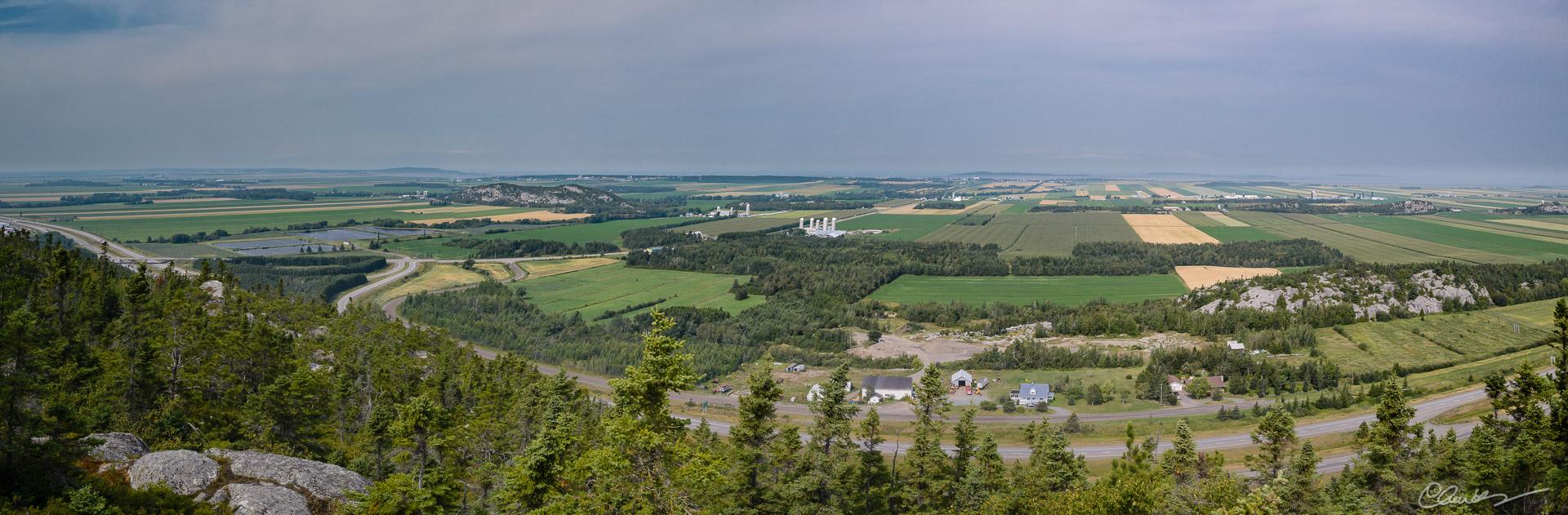 La plaine de Kamouraska (de la montagne à Coton) / Kamouraska landscape (from Coton bute)