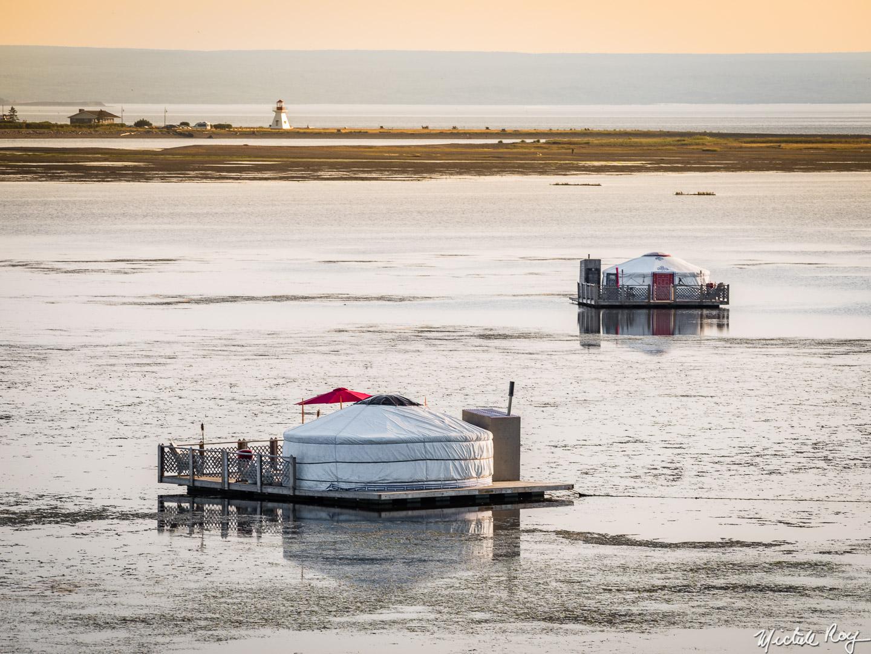 Yourtes flottantes / Floating yurts